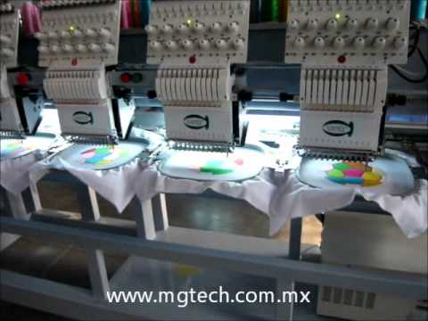 EMBROIDERY DROP TABLE MACHINES, MAQUINAS PARA BORDAR GORRAS Y PRENDAS TERMINADAS