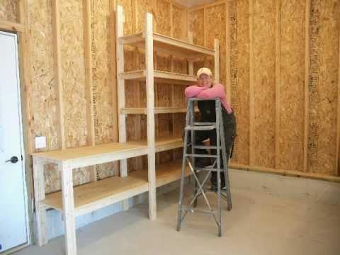 shelves for mick tom 39 s garage youtube. Black Bedroom Furniture Sets. Home Design Ideas