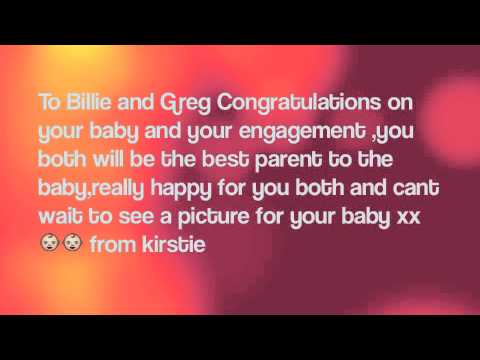 Congratulations to Billie Faiers and Greg Shepherd