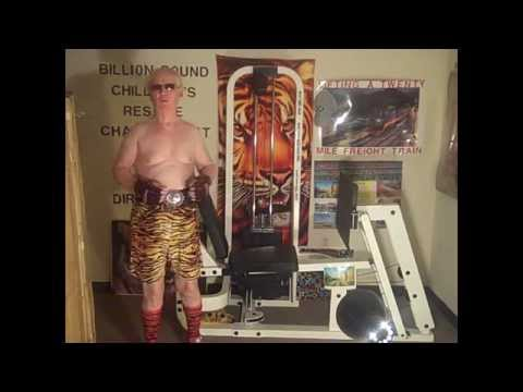 FOUNTAIN OF YOUTH 74TH BIRTHDAY TIGER LIFT EXERCISE    LAT HIGH ROLL  300 POUNDS