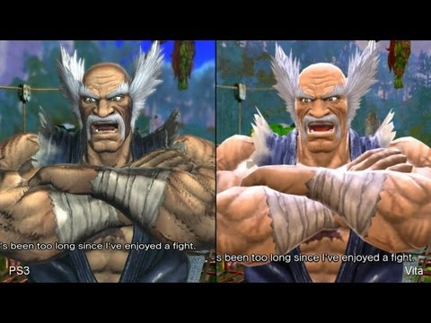 Comparação PS Vita vs PS3 Street Fighter vs Tekken