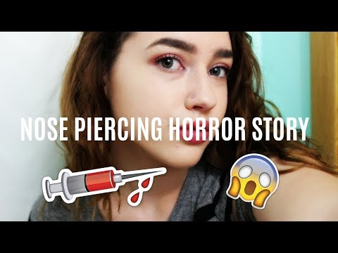 NOSE PIERCING GONE WRONG// grwm story time