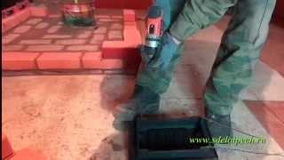 Отопительно-варочная печь с закрытым камином