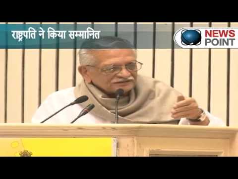 Lyricist Director Gulzar receives Dada Saheb Phalke award
