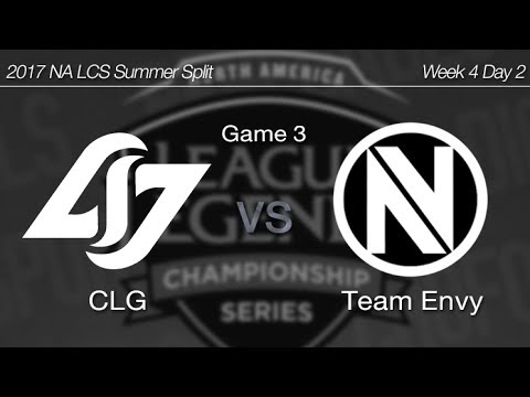 [ CLG vs Team Envy ] Game 3 - 2017 NA LCS Summer Week 4 Day 2 170625