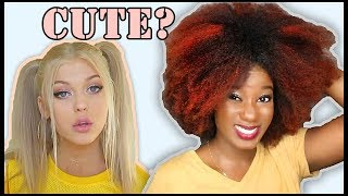 """I TRIED A WHITE GIRL'S """"FAVORITE HAIRSTYLES"""" [Loren Gray]"""