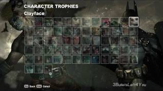 Batman Arkham City -  All Character trophies + DLC Skins