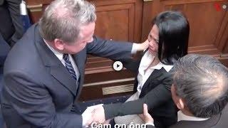 [NÓNG]: Điều Trần tại Quốc Hội Hoa Kỳ: Chị gái Nguyễn Hữu Tấn gào khóc quì xin dân biểu Mỹ cứu giúp