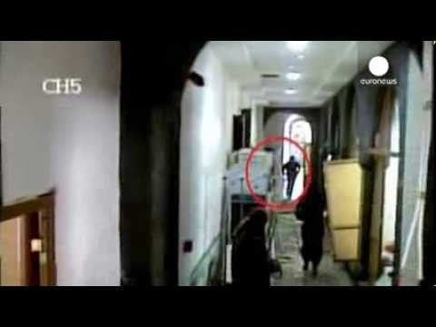 Shocking CCTV: Car bomb explodes as gumen attack Yemen hospital, killing over 50
