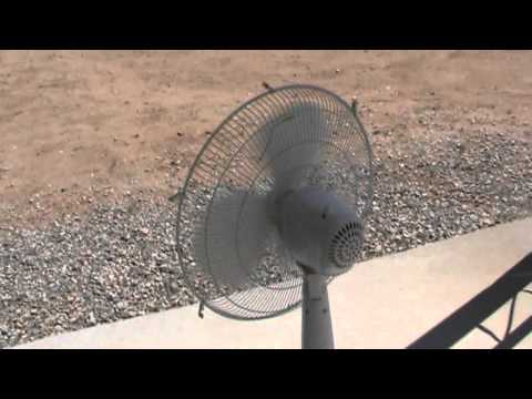 wind generator using Oscillating fan possibilities