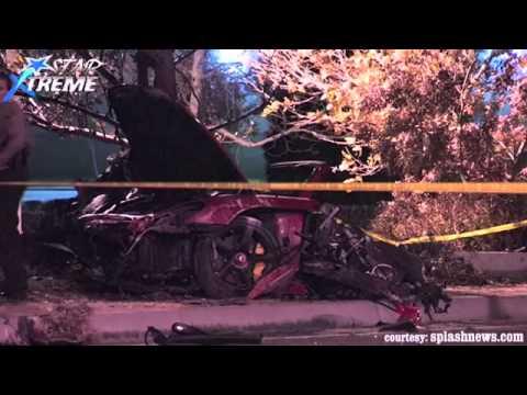 paul walker live accident video