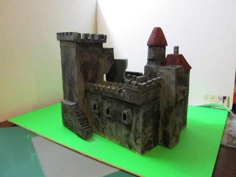 how to make a medieval castle out of styrofoam