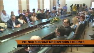PD Nuk shkojm n Kuvendin e dhuns  Top Channel Albania  News  L