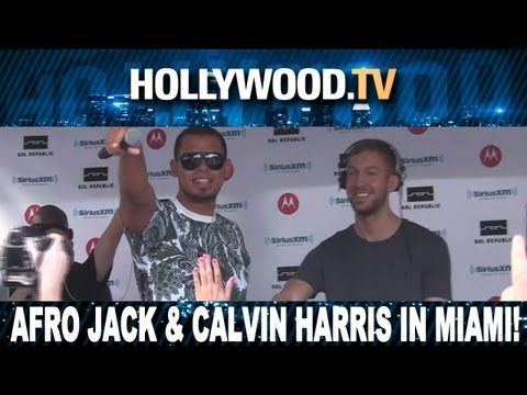 AfroJack and Calvin Harris spinning in Miami - Hollywood.TV