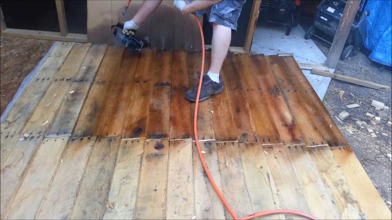 Motor Oil Stain Shed From Free Pallets Part 3 Youtube