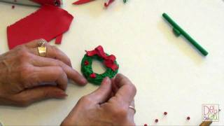 Polymer Clay How To Make A Christmas Wreath