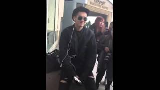 Kris Wu's reaction when the fan told him he was older than them