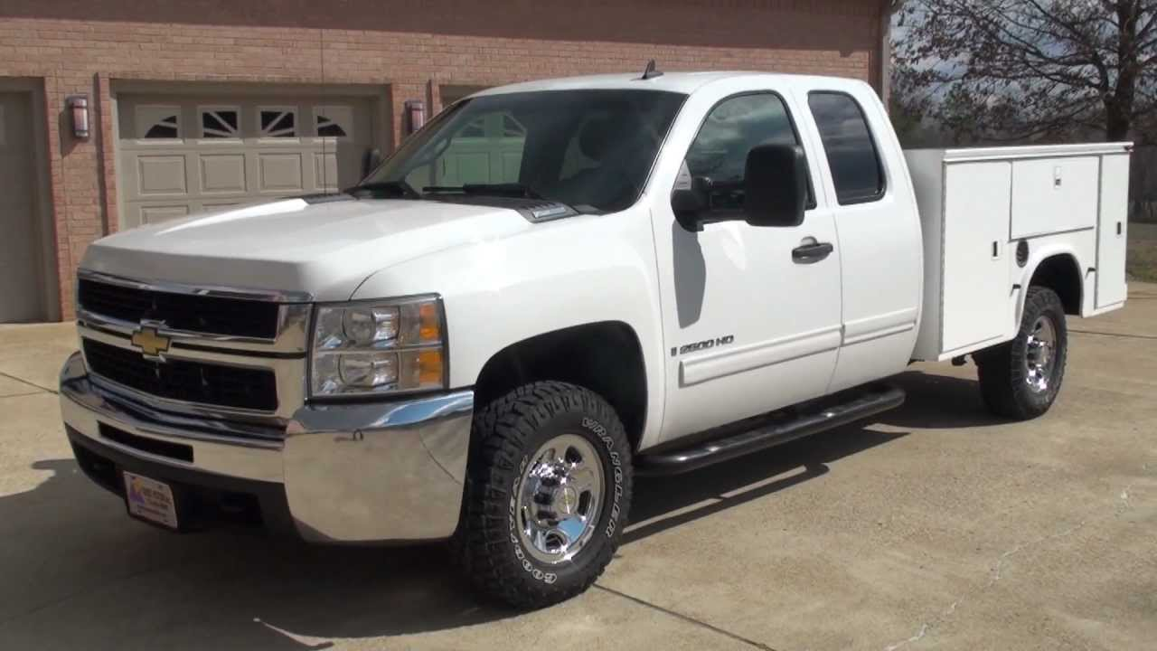 HD VIDEO 2009 CHEVROLET SILVERADO 2500 HD UTILITY BED 4X4 DURAMAX DIESEL USED FOR SALE SEE ...