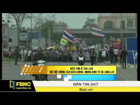 Biểu tình ở Thái Lan: Nữ Thủ tướng vẫn kiên cường, nhưng kinh tế đã lung lay