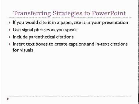 Apa style power point presentation