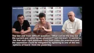 Discussion of the situation with the political crisis in Abkhazia