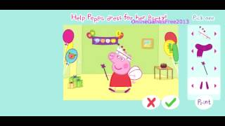 Peppa Pig Online Games Peppa Pig Dress Up Game