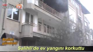 Salihli'de Ev Yangını Korkuttu