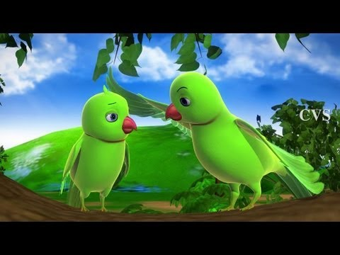 Chitti Chilakamma - Parrots 3D Animation Telugu Rhymes with Lyrics