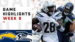 Chargers vs. Seahawks Week 9 Highlights | NFL 2018