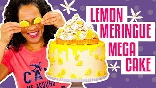 How To Make A Sweet & Tangy LEMON MERINGUE PIE MEGA CAKE | Yolanda Gampp | How To Cake It