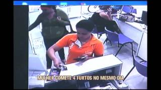 Mulher comete quatro furtos em um mesmo dia no Sul de Minas