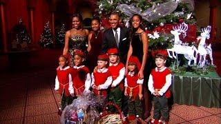 "Obamas join Dwayne ""The Rock"" Johnson at Christmas in Washington concert"