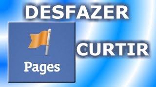 DESFAZER CURTIR VÁRIAS PÁGINAS NO FACEBOOK