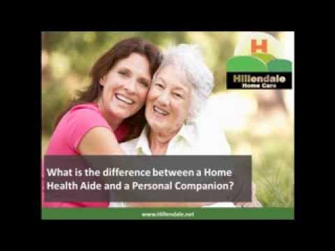 Home Care Walnut Creek: What's the difference between a Home Health Aide and a Personal Companion?