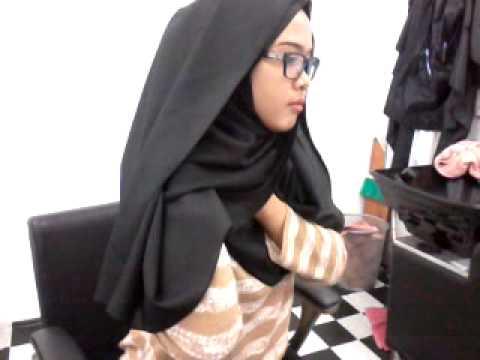 Tutorial bawal crepe jadi shawl