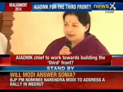 Breaking News: Jayalalithaa to work with CPI in the run up to 2014 - NewsX