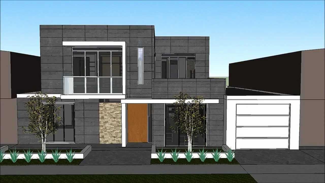 Planos gratis casa moderna minimalista parte 1 youtube - Distribuciones de casas modernas ...