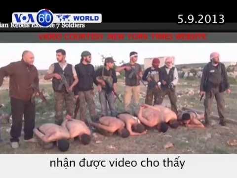 Phe nổi dậy Syria hành quyết binh sĩ chính phủ (VOA60)