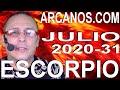 Video Horóscopo Semanal ESCORPIO  del 26 Julio al 1 Agosto 2020 (Semana 2020-31) (Lectura del Tarot)