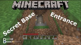 How To Make A Secret Base Entrance In Minecraft! [Xbox