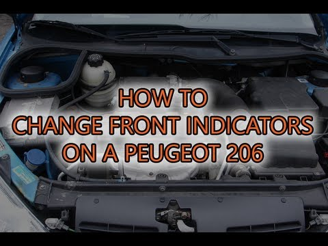 How to: Change a PY21W front indicator bulb on a Peugeot 206 - YouTube