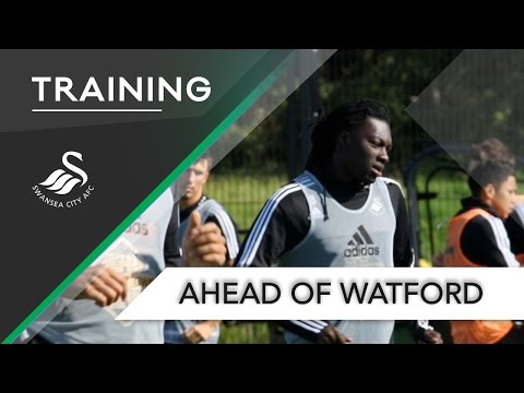 VIDEO: Watch Andre Ayew and Swansea City training ahead of Watford clash