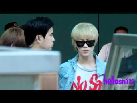110717 SHINee Departure Part 2@Taiwan Taoyuan International Airport