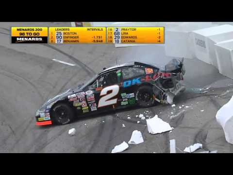 Praytor Big Crash @ 2014 ARCA Toledo