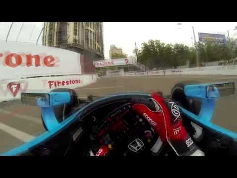 Simon Pagenaud Onboard @ 2014 Indy Car St.Petersburg Practice