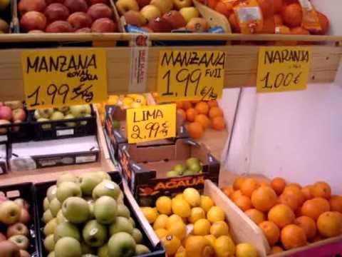 Vídeo Vocabulario: Frutería