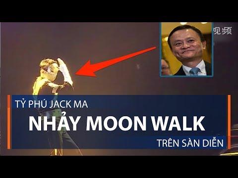 Tỷ phú Jack Ma nhảy Moon Walk trên sàn diễn   VTC1