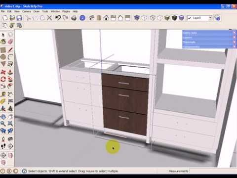 SketchUp Kitchen Design using Dynamic Component Cabinets (Part 1 of 3)