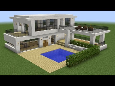 Minecraft - How to build a modern house 5