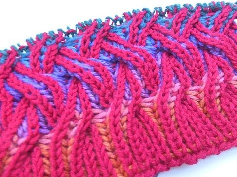 2 COLOR BRIOCHE KNITTING Free Knitting Projects
